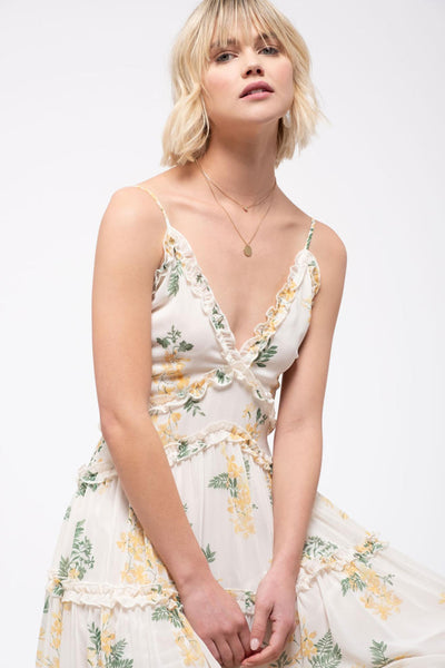 Paris in Spring Floral Dress