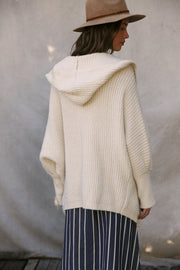 Oh So Cozy Ribbed Hoodie Cardigan