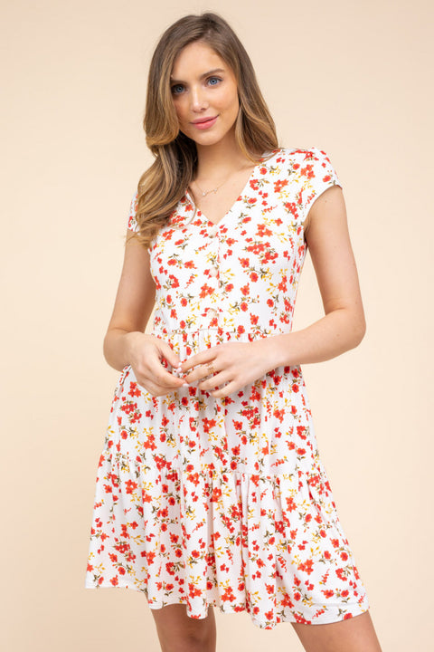 So Soon Floral Babydoll Dress