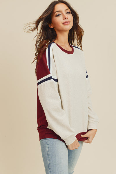 Make it Happen Stripe Sweatshirt