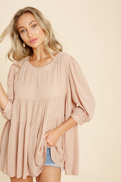 These Days Swiss Dot Tunic Top