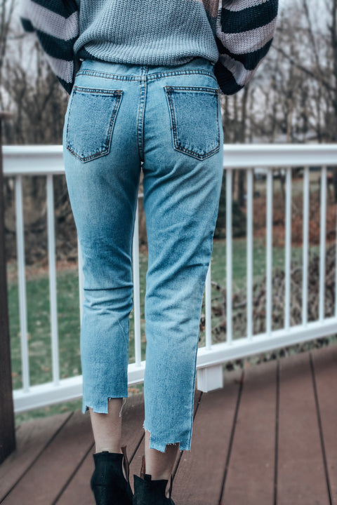 The Hannah Two-Tone Denim Jeans
