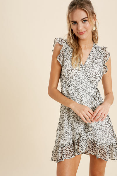Wild Child Leopard Wrap Dress
