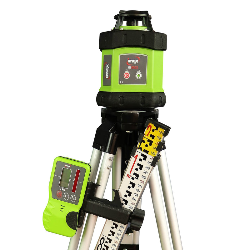 Imex Rotary Laser Kit with Tripod & Staff 012-E60K - United Tools Townsville