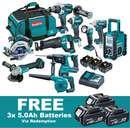Makita 18V Brushless 10 Piece Combo DLX1014TX1