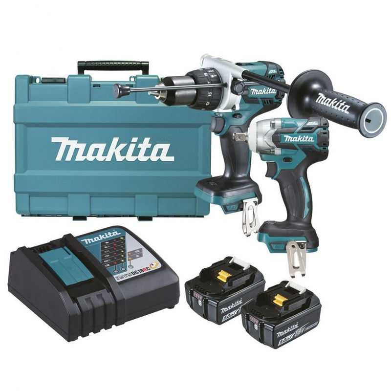 Makita 18v 5.0Ah Brushless 2 Piece Kit DLX2185T