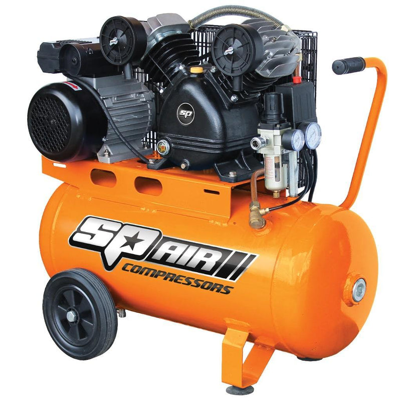 SP AIR COMPRESSOR - V-TWIN CAST IRON PORTABLE - 2.5HP SP14