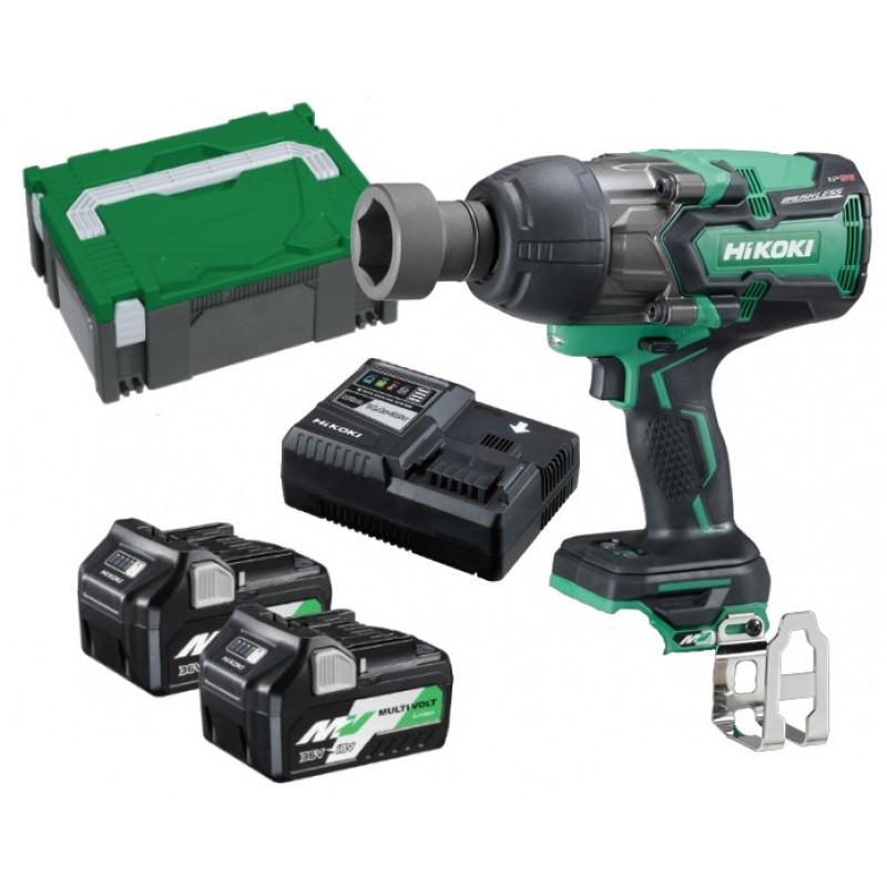 "HiKOKI 36V High Torque 1/2"" Dr Impact Wrench MultiVolt Battery Kit WR36DB(HRZ) - United Tools Townsville"