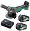 HiKOKI 36V 125mm Angle Grinder with Paddle Switch MultiVolt Battery Kit G3613DB(HRZ)