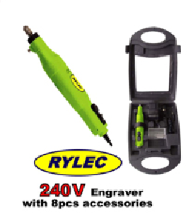 Rylec Engraver 240V with 8 Piece Accessory Pack