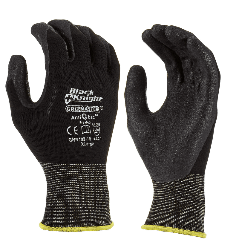 Maxisafe Large Black Knight Gripmaster Coated Glove GNN192-09