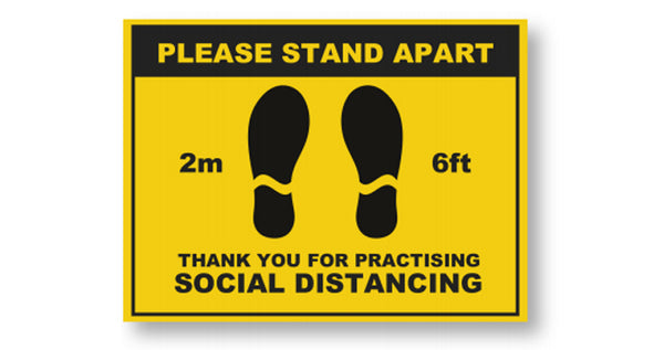Social Distancing Floor Sign  <br>Min Qty 5<br>