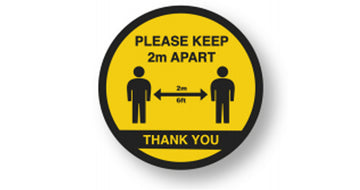 Please Stay Apart Floor Sticker  <br>Min Qty 5<br>