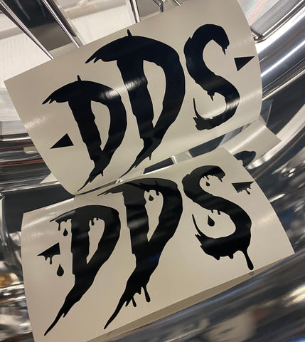 "(2) DDS LOGO 6"" DECALS (9-12 ENTRIES!)"