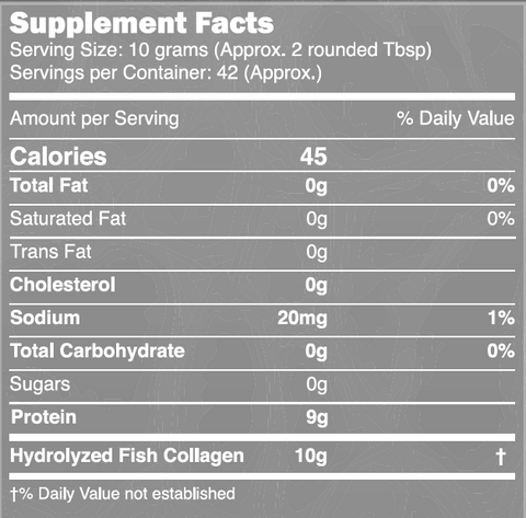 Marine Collagen Peptides Powder (42 day supply)