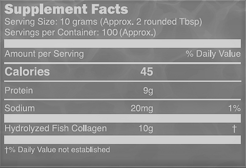 Image of Marine Collagen Peptides Powder 1KG  (100 Day Supply)