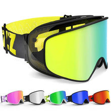 Load image into Gallery viewer, 2 in 1  Night Skiing Anti-fog Snowboard Goggles