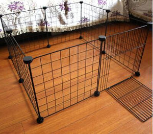 Fold-able Pet Playpen Iron Fence Puppy Dog Cat Kennel House Kitten Room 12/10/8/6 pcs