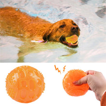 Load image into Gallery viewer, 1/2Pcs Pet Training Chew Toys Rubber Float Squeaky Ball For Dog Cat Playing Ball Interactive Toys Dogs Cats Tooth Clean Ball Toy