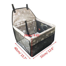 Load image into Gallery viewer, Nylon Waterproof Travel 2 in 1 Carrier For Dogs Folding Thick Pet Cat Dog Car  Seat Cover Outdoor Pet Bag Hammock