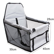 Load image into Gallery viewer, Pet Car  Seat Front Seat Cover for Dog Cat, Portable 2-in-1 Dog Seat Protection Non-Slip Waterproof with Safety Belt