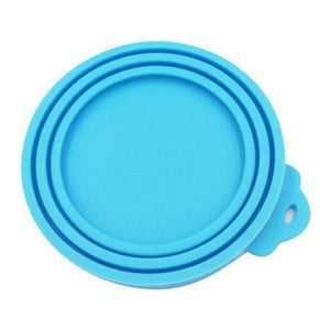 Pet Silicone Canned Lid Covers Sealed Feeders Food Can Lid Dog Cat Storage Top Cap Reusable Cover Lid Health Pet Supplies
