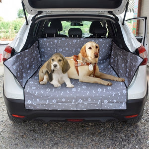 Dog Car Seat Cover Footprint Thick Waterproof Bite Resistant Rear Back Trunk Hammock Cushion Protector Seat Cover Pad Mat
