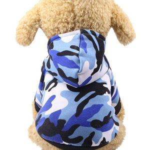 Creative Small Pet Camouflage Hoodie Winter Warm Sweatshirt T-shirt Cotton Adidog Blend Clothes Dog Clothes Hoodies
