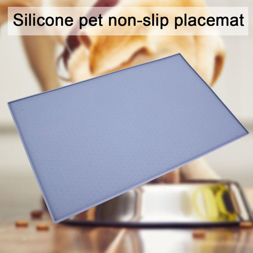 Pet Mat Anti-slip Drinking Feeding Waterproof Placemat Silicone Bowl Food Pad Dogs Cats