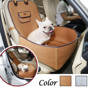 Dog Seat Car Front Seat Cover Vintage Dual-use Pet  Protector Retro 2 in 1 Waterproof Pet Bucket Seat Cover Pet Accessories