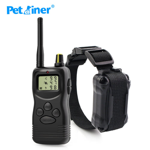 Petrainer 900-1 1000M Electronic Remote Control Dog Training Collar Barking Controller Multi-dog Training System