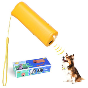 New 3in1 Anti Barking Ultrasonic Pet Dog Repeller Anti Barking Stop Bark Training Device Trainer LED Ultrasonic Without Battery