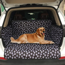 Load image into Gallery viewer, Dog Car Back Seat Carrier Waterproof Pet Mat Hammock Cushion  Carriers Oxford Fabric Paw Pattern Car Pet Seat Cover