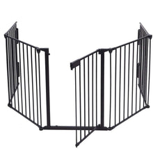 Load image into Gallery viewer, 5 PCS/Set DIY Pet Fences Metal Fireplace Fence Dog Fire Gate Baby Safety Gate Dog Safety Fence for Pets and Baby Dog Fences