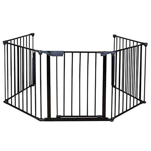 5 PCS/Set DIY Pet Fences Metal Fireplace Fence Dog Fire Gate Baby Safety Gate Dog Safety Fence for Pets and Baby Dog Fences