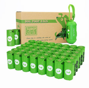 Biodegradable Dog Poop Bags Earth-Friendly 360/720 Counts 24/48 Rolls 15 Micron Green Cat Waste Bags Garbage Bag