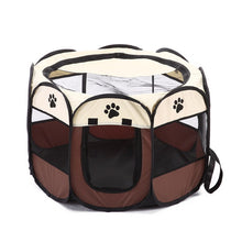Load image into Gallery viewer, Folding Pet Carrier Tent Dog House Playpen Multi functional Portable Cage Dog Octagon Fence Breathable Cat Tent Big Dog Fence
