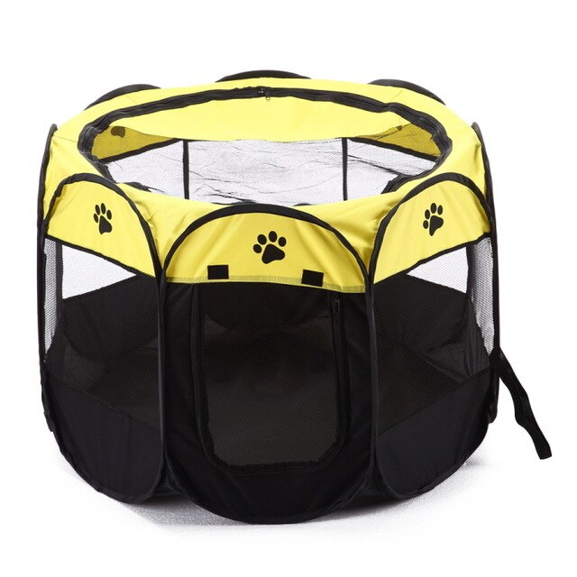 Folding Pet Carrier Tent Dog House Playpen Multi functional Portable Cage Dog Octagon Fence Breathable Cat Tent Big Dog Fence