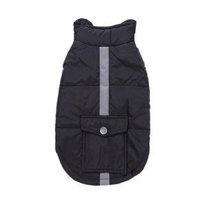 Newly Reflective Pet Dog Coat with Pocket Winter Warm Dog Jacket Coats For Outdoor Waking Playing Fun Small Dog Parkas 81113
