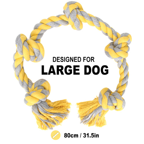 Pet Rope Dog Toys for Large Dog Chew Toys Interactive , Dogs Tug Toy Teeth Cleaning Toys for Big Dog, Bite Rope Knot Dogs Toy