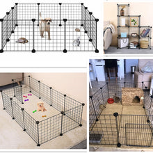 Load image into Gallery viewer, Foldable Pet Playpen Iron Fence Puppy Kennel House Exercise Training Puppy Kitten Space Dogs Supplies rabbits guinea pig Cage