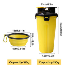 Load image into Gallery viewer, Outdoor Travel Folding Silicone Bowl For Dog Cat Feeder Cup Folding Dog Bowl 2 In 1 Pet Water Bottle Food Container Bowl