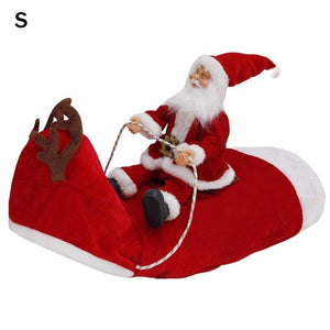 Christmas Dog Clothes Santa Claus Riding Deer Dogs Dress Up Christmas Costume for Pug Chihuahua Yorkshire Pet Dog Jacket Coat