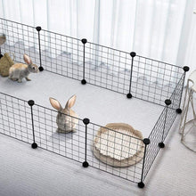 Load image into Gallery viewer, New Dog House Foldable Dog Fences Puppy Kennel Iron Pet Playpen for Training Kitten Rabbits Cage Dog Supplies Pet Products