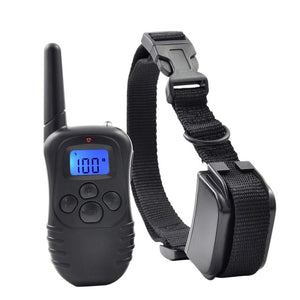 Petrainer 998DRB-1 300M Remote Electric Dog Collar Shock Vibration Rechargeable Rainproof Dog Training Collar With LCD Display