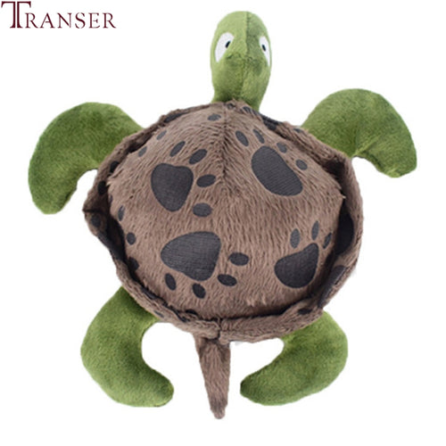 Transer Pet Dog Supply Dog Toy Turtle Shape Squeaky Sound Making Funny Interactive Puppy Chew Bite Toys 906