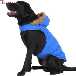 Transer Pet Dog Clothes Winter Warm Hoodie Jacket Coat for Large Dogs Big Dog Jackets Puppy Clothing for Small Medium Dogs 908