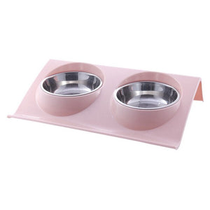 15 Degree Adjustable Pet Feeder Bowl Dog Cat Adjustable Feed Bowl Feeding Food Water Non-slip Pet Dog Dish Feeders Tableware