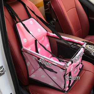 Pet Dog Car Seat Cover Waterproof Dog Carrier Safe Dog Car Seat Basket Cat Puppy Bag Travel Mesh Hanging Bags
