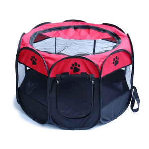 Easy Operation Octagonal Fence Outdoor Supplies Portable Folding Pet Tent Dog House Cage Dog Cat Tent Playpen Puppy Kennel
